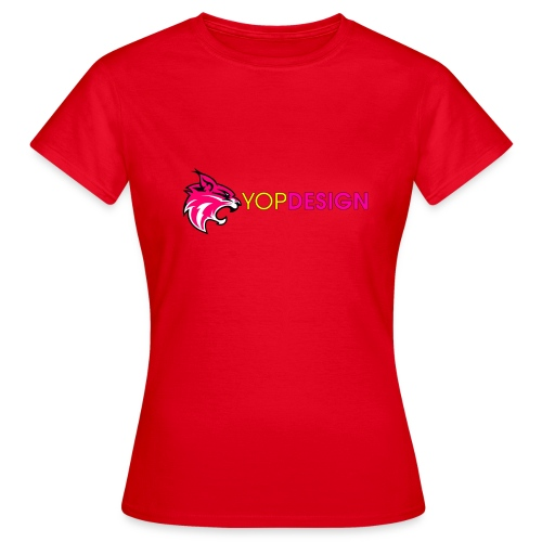 YopDesign female T-shirt red - T-shirt Femme