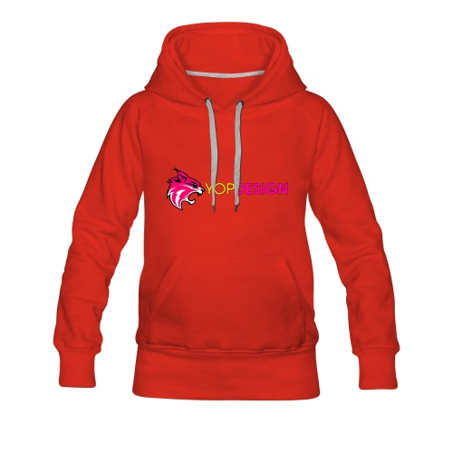 YopDesign female sweet-shirt red - Sweat-shirt à capuche Premium pour femmes