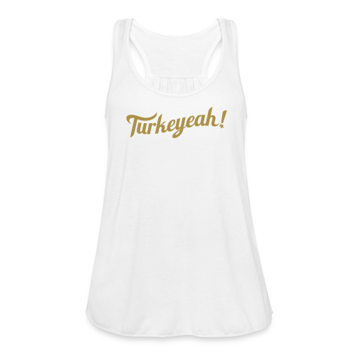 Turkeyeah! Wave Women Racerback Top White/Gold - Frauen Tank Top von Bella