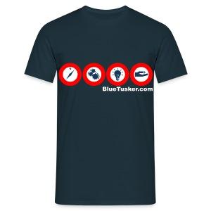BlueTusker - Focus Topics weiß - Männer T-Shirt