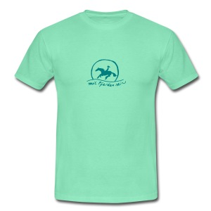 Front and Back : Sunset Rider Men Shirt ( Print Smaragd Green) - Männer T-Shirt
