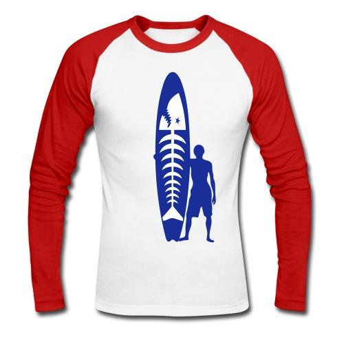 Surfer - surfeur - Men's Long Sleeve Baseball T-Shirt