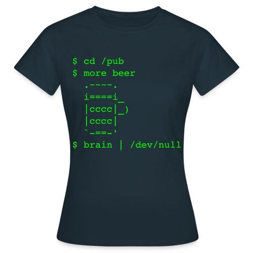/pub/beer /dev/null - Frauen - Frauen T-Shirt
