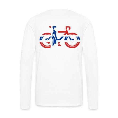 Genser norsk flagg sykkel - Premium langermet T-skjorte for menn