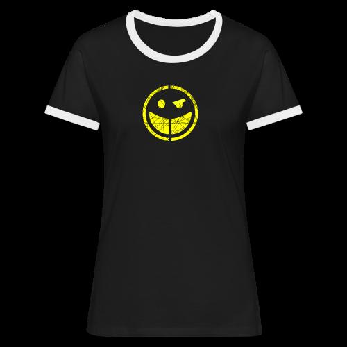 women's ringer smilly t-shirt - Women's Ringer T-Shirt