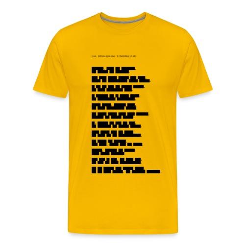 Zensur-Shirt | Jan Böhmermann: Schmähkritik - Männer Premium T-Shirt