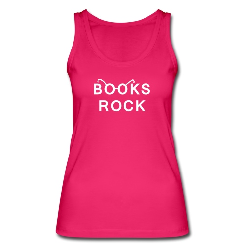 Books Rock White Glasses Women's Organic Tank Top - Women's Organic Tank Top by Stanley & Stella