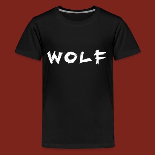 WOLF T-shirt (voor donkere kleuren) - Teenager Premium T-shirt