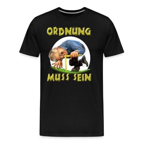 HW - Ordnung muss sein - der penible Heimwerker und Gärtner - RAHMENLOS Geburtstag Geschenk - Männer Premium T-Shirt