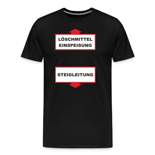 FWD - Feuerwehr Fun Designs Löschmittel Einspeisung - Steigleitung mit Pfeilen - RAHMENLOS Geburtst - Männer Premium T-Shirt