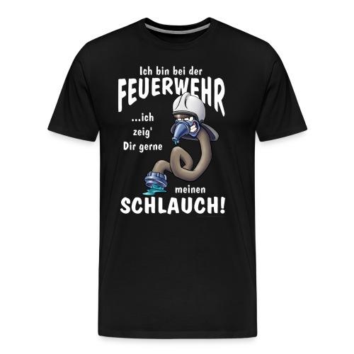 FWD - ich in bei der Feuerwehr - ich zeig dir gerne meinen Schlauch - RAHMENLOS Geburtstag Geschenk - Männer Premium T-Shirt