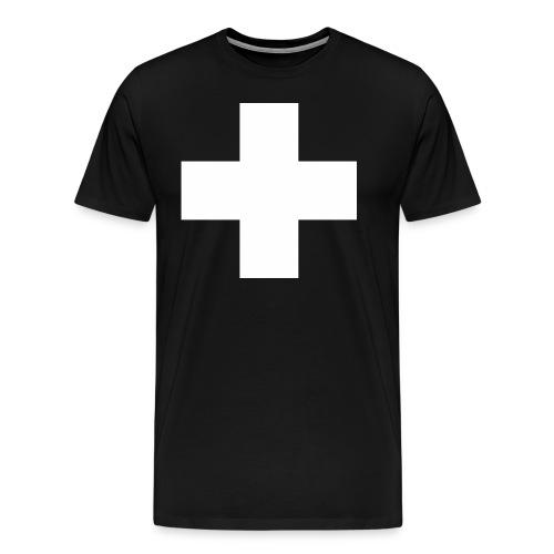 FWD - Weisses Kreuz - erste Hilfe - Feuerwehr und Sanis - RAHMENLOS Geburtstag Geschenk - Männer Premium T-Shirt