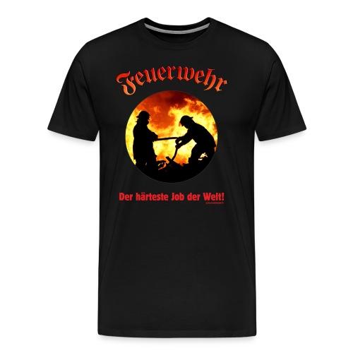 FWD - Feuerwehr - der härteste Job der Welt - RAHMENLOS Geburtstag Geschenk - Männer Premium T-Shirt