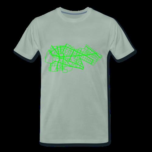 Berlin Kreuzberg (neon-grün) - Männer Premium T-Shirt