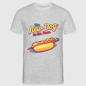 Grå meleret The New Dog in the Town T-shirts - Herre-T-shirt