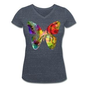 Vintage Butterfly - Frauen Bio-T-Shirt mit V-Ausschnitt von Stanley & Stella
