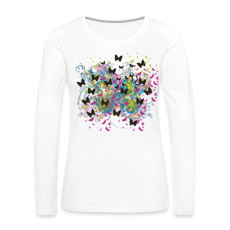 Butterfly Storm - Frauen Premium Langarmshirt