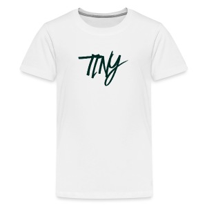 WHITE AND BLACK TINY T-SHIRT - Teenage Premium T-Shirt