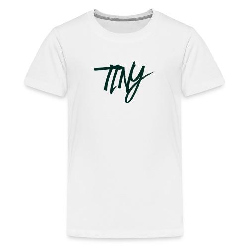 WHITE AND BLACK TINY T-SHIRT - Teenage Premium T-Shirt