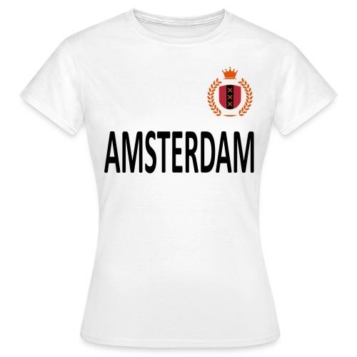 Dames t-shirt amsterdam met krans - Vrouwen T-shirt