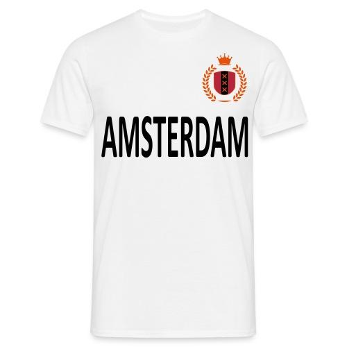 Heren t-shirt amsterdam met krans - Mannen T-shirt