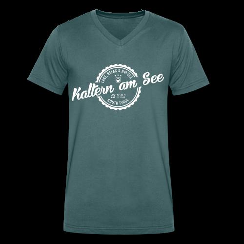 KALTERN AM SEE - Männer Bio-T-Shirt mit V-Ausschnitt von Stanley & Stella