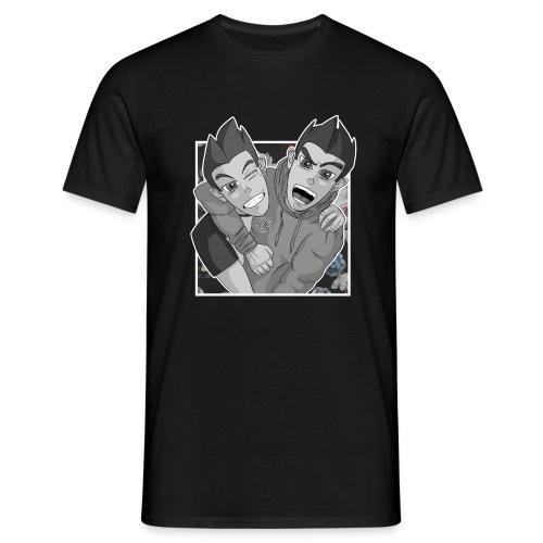 Flower Selfie - Noir & Blanc - T-shirt Homme