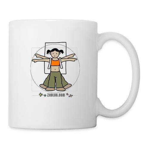 ZeBloc Girl Mug - Mug blanc
