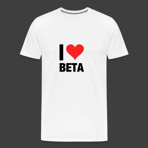 I Love Beta T-Shirt - Männer Premium T-Shirt
