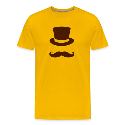The Gentlmen Shirt (Sonnen-Gelb) - Männer Premium T-Shirt