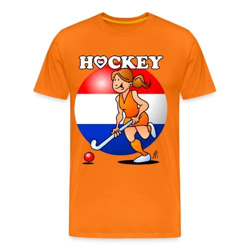 Nederländska kvinnor hockey T-shirts - Men's Premium T-Shirt