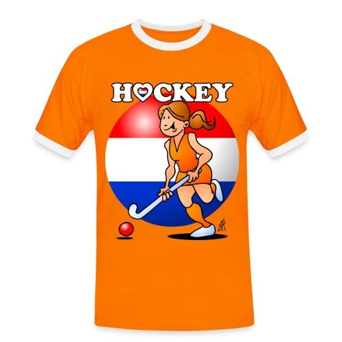 Nederländska kvinnor hockey T-shirts - Men's Ringer Shirt