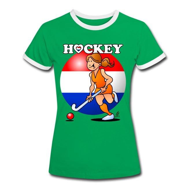 Nederländska kvinnor hockey T-shirts