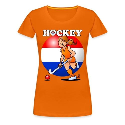 Nederländska kvinnor hockey T-shirts - Women's Premium T-Shirt
