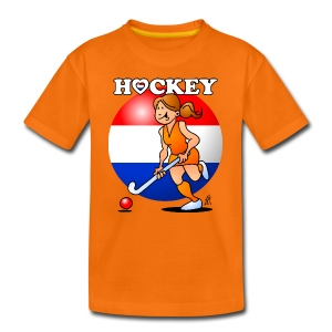 Nederländska kvinnor hockey T-shirts - Teenager Premium T-shirt