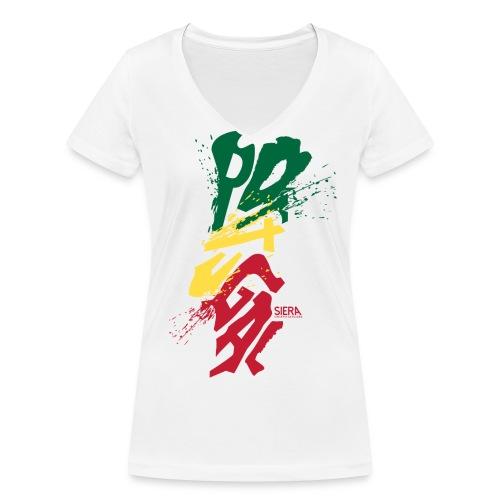 POTUGAL FEMME COL V - T-shirt bio col V Stanley & Stella Femme