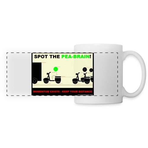 Pea-Brain Contrast Colour Mug - Panoramic Mug