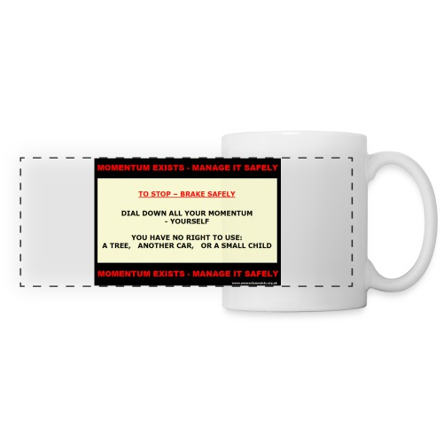 Brake Safely Contrast Colour Mug - Panoramic Mug