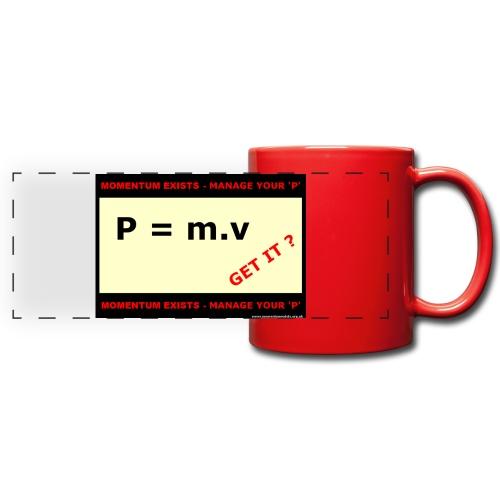 P = m . v Full Colour Mug - Full Color Panoramic Mug