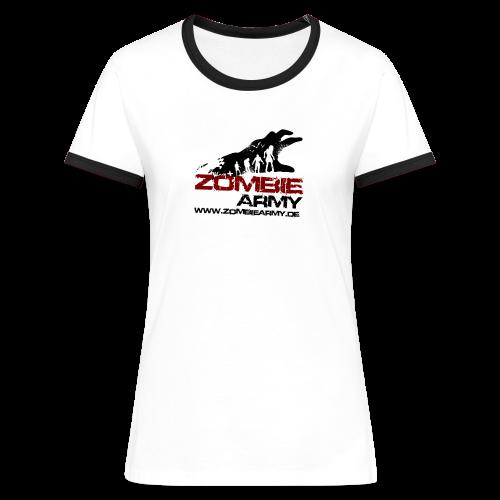 ZA Shirt Frauen 2 MIT Gamertag - Frauen Kontrast-T-Shirt