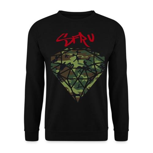 SFRV Diamond Camo Sweater BLK  - Men's Sweatshirt