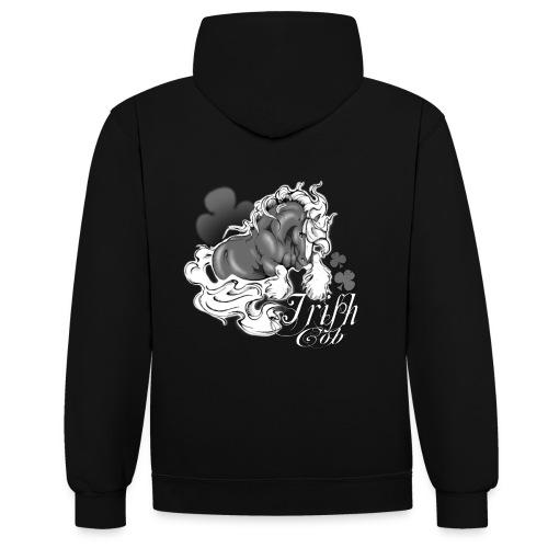 t shirt irish cob femme noir - Sweat-shirt contraste