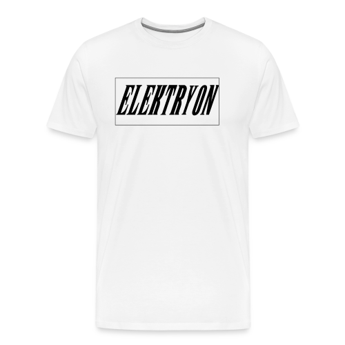 Elektryon Banner White for Men - Männer Premium T-Shirt