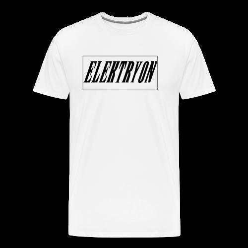 Elektryon Banner White for Men - Männer Premium T-Shirt