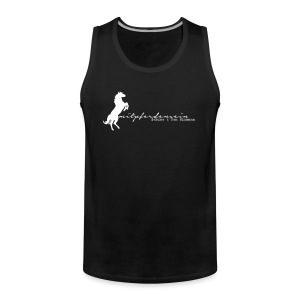 RU Font Men Tank Top ( Print Digital White) - Männer Premium Tank Top