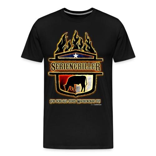 BBQ - Seriengriller ich schlage jedes Wochenende zu - RAHMENLOS Geburtstag Geschenk - Männer Premium T-Shirt