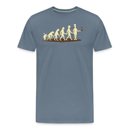 BBQ - Evolution Koch vom Affen zum Chef-Koch - RAHMENLOS Geburtstag Geschenk - Männer Premium T-Shirt