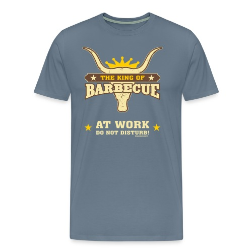 BBQ - The King of Barbecue - at work do not disturb - RAHMENLOS Geburtstag Geschenk - Männer Premium T-Shirt