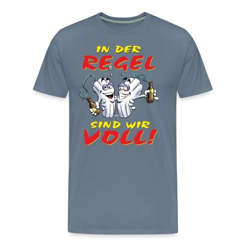 AD - in der Regel sind wir voll - Alkohl Lady Design - RAHMENLOS Geburtstag Geschenk - Männer Premium T-Shirt