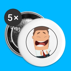 Laughing Mr Acceptable Button Badge - Buttons medium 32 mm